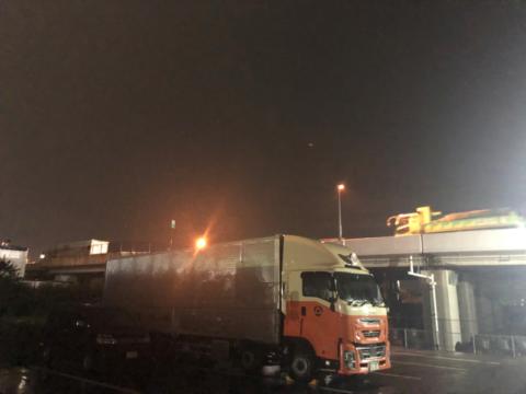 台風通過後の神奈川営業所