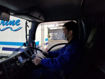 新しく入社されたドライバーさん頑張っています!
