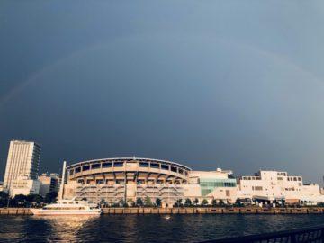 雨の合間に虹が出ました!(感動)